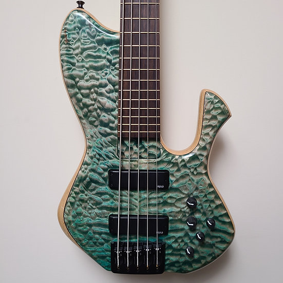 """2014 Skjold Erskine Whaleback Exotic 34"""" 5-string - Exceptional Quilt top"""
