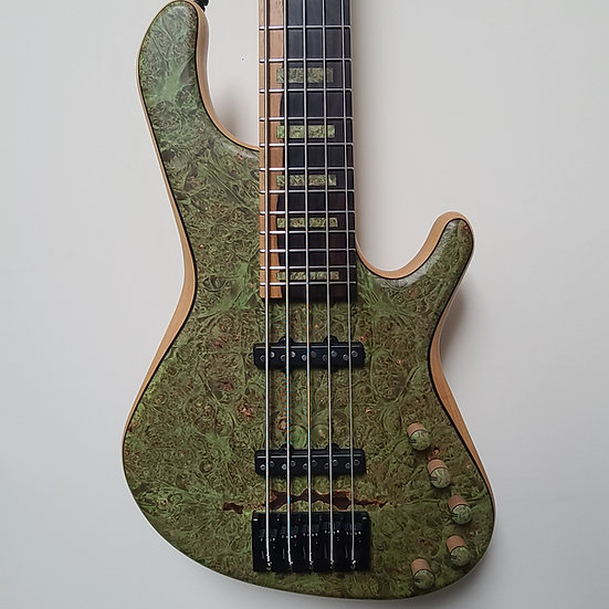 Adamovic Soul 5 - Forest Green Burl - Certified Pre-Owned