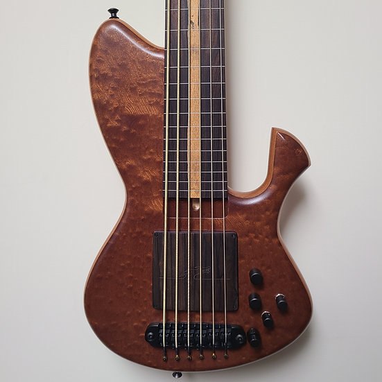 "Skjold Cathedral Exotic 33"" 6-string Fretless"