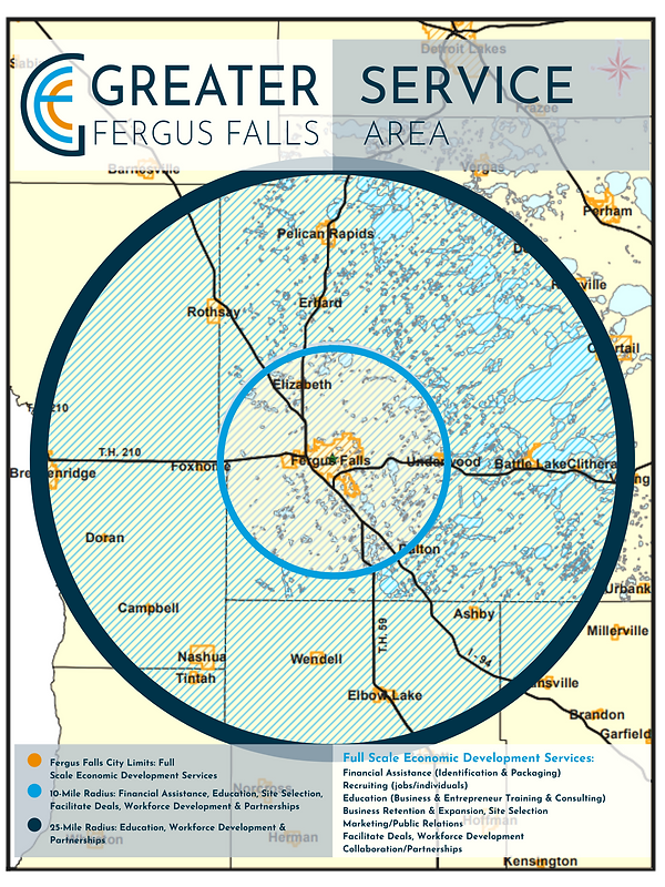 Greater Fergus Falls Service Area Map 5-