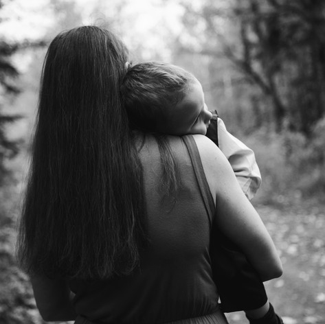 Mother and Son, Family session, Capilano Park, Edmonton