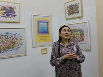 """19 ноября в """"Мирасе"""" открылась новая выставка спонтанной живописи """"Фонтан-искусство&q"""
