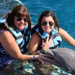 Mom/Daughter Dolphin Encounter