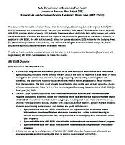 Dept of Edu Fact Sheet