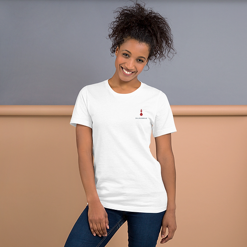 Short-Sleeve Unisex Embroidered T-Shirt