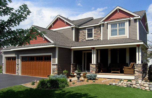 AFTER:  A tract home transformed into a Craftsman-Style beauty!