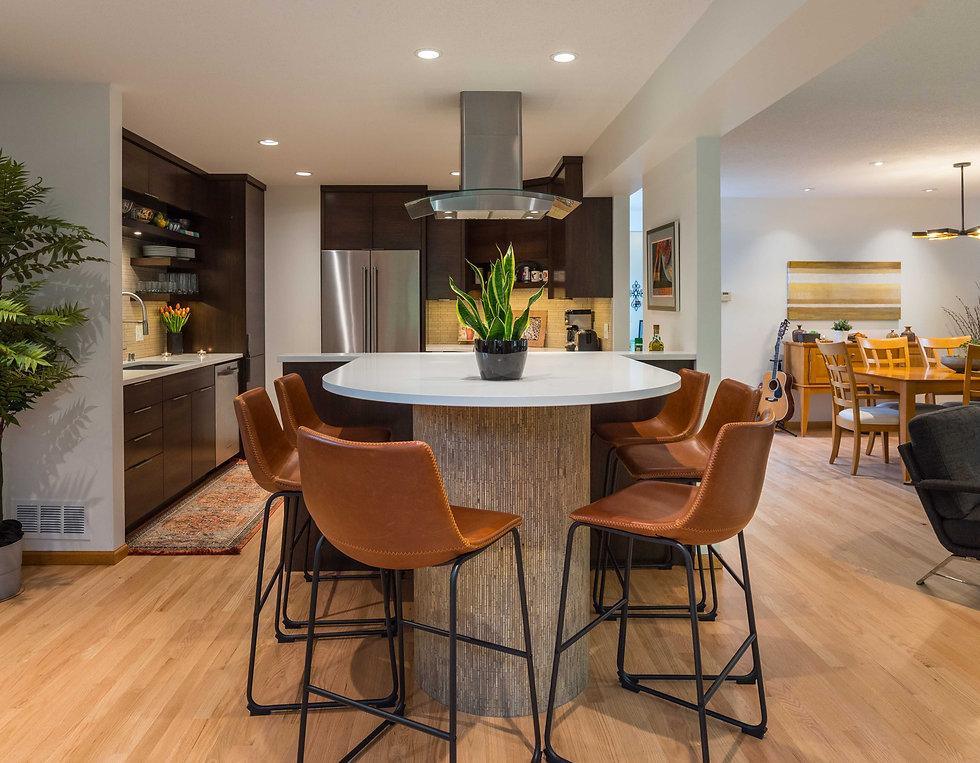 Kitchen remodel peninsula contemporary m