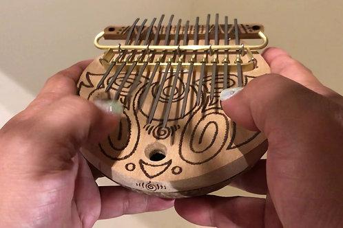 ・Bunカリンバ・親指ピアノ・「月の雫くるくる🌀文様」12弦カリンバ
