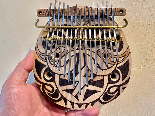 ・Bunカリンバ・親指ピアノ・力強い平和の印 15弦Gチューン