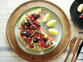 Mega Kiwi Watermelon Pizza