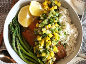 Mega Kiwi Mango Salsa with Salmon