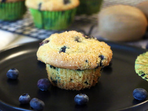 Oversized Blueberry Mega Kiwi Muffins