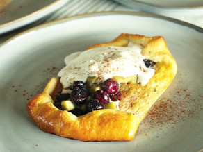 Mega Kiwi Blueberry Puff Pastries