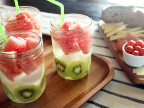Mega Kiwi Watermelon Infused Water