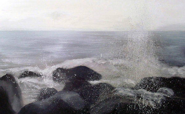 岩浪 WAVE ROCK 2011/7 ,oil painting ,50P
