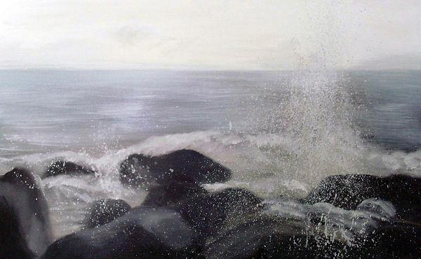 岩浪 WAVE ROCK 2011/7 ,oil painting ,50P