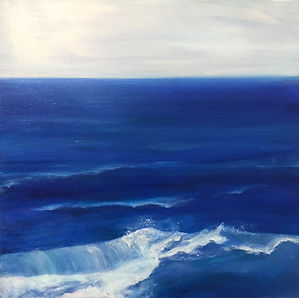 Blue Waves  ​  11 / 2018, 60 x 60 cm, oil painting    ​