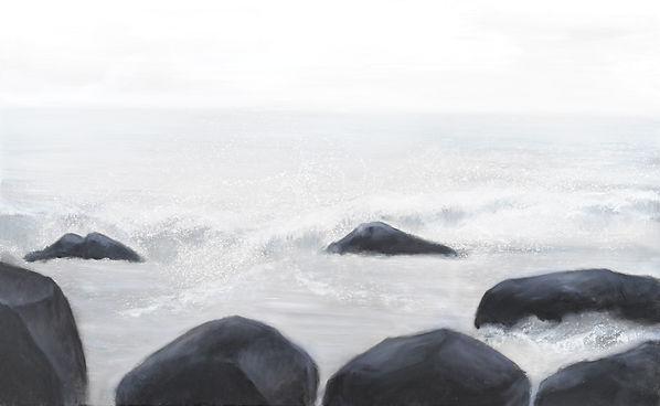 浪待 WAVES WAIT 2011/7 油畫oil painting 50P