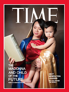 21 century Madonna and Child  in TIME 11.2019 , Photoshop