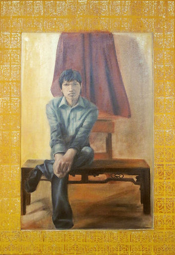 編織-MY LOVE 2010/7 油畫 指甲油 oil painting Nail Polish 50P
