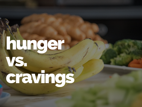 What is the difference between hunger and cravings?