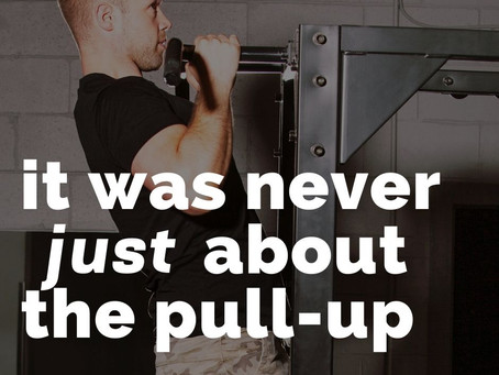 It was never about the pull-up