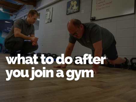 What to do after you join the gym