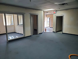 The new Beth Tikvah office space under construction.
