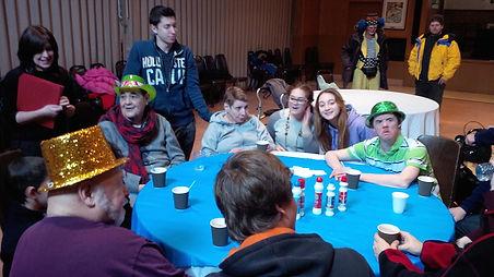 Beth Tikvah residents enjoying a community bingo night.