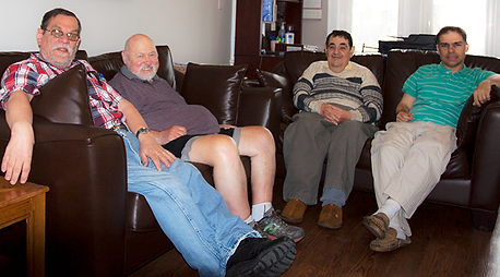 Beth Tikvah residents sitting together.