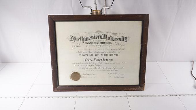 1910 Northwestern University Doctor Of Medicine Diploma