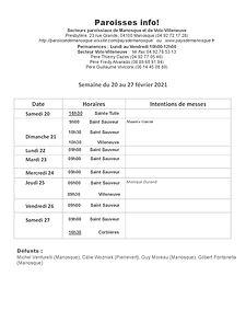PAROISSE INFO du 20 au 27 février 2021.j