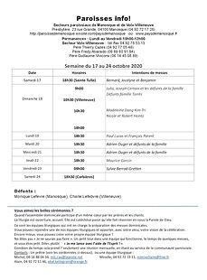 PAROISSE INFO du 17 au 24 octobre 2020.j