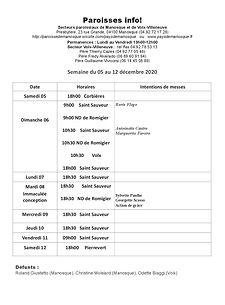 PAROISSE INFO du 5 au 12 décembre 2020.j