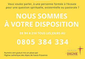Cellule d'écoute du diocèse de Digne