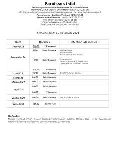 PAROISSE INFO du 23 au 30 janvier 2021.j