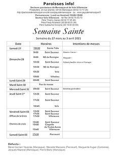 PAROISSE INFO du 27 mars au 3 avril  202