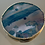 Thumbnail: Agate gold plated adhesive holder- stunning