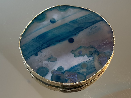Agate gold plated adhesive holder- stunning