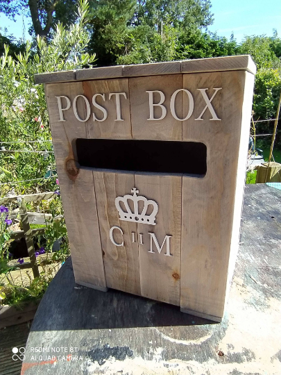 Wedding Post Box Card Storage Mail Cards Feature Display Pallet Wood