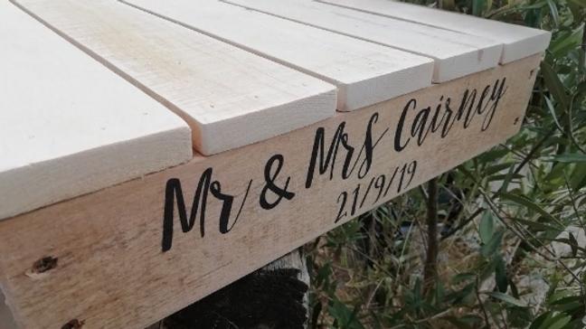 Wedding Cake Stand Platform Base Rustic Base Pallet Wood Display
