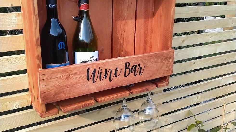 Wine Rack with glass holders