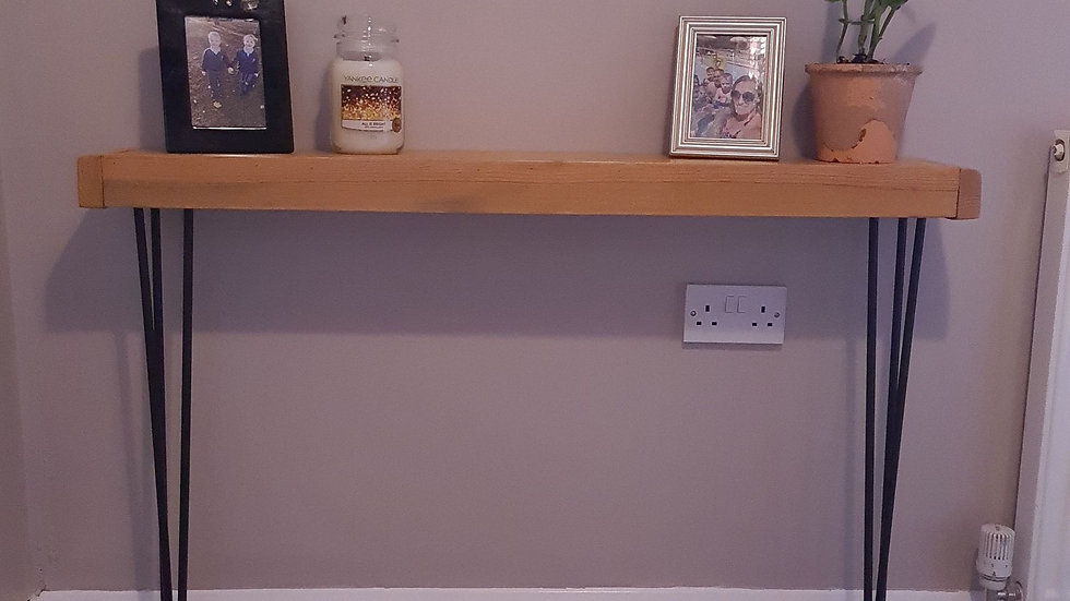 Wooden Console Table Pallet Shelf Rustic Home Hairpin Legs Hallway Radiator