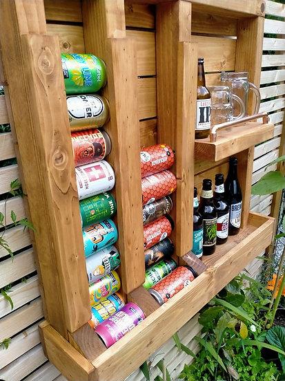 Craft Beer Bar Wall Garden Pub Outdoor Beer Rack Pallet Wood Copper Rustic
