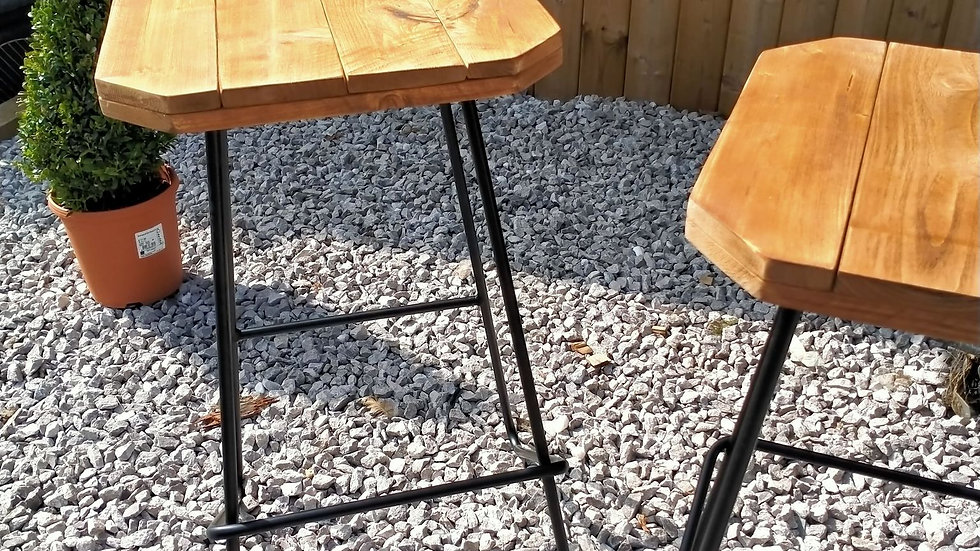 Wooden Pallet Bar Stool Pub Seating Outdoor chairs Pair of stools