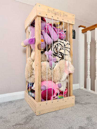 My Zoo Teddy Zoo Storage Personalised Wooden Bedroom Children's Bungee Cord Tidy