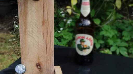 Wooden Bottle opener rustic Garden Wall Bar Accessory