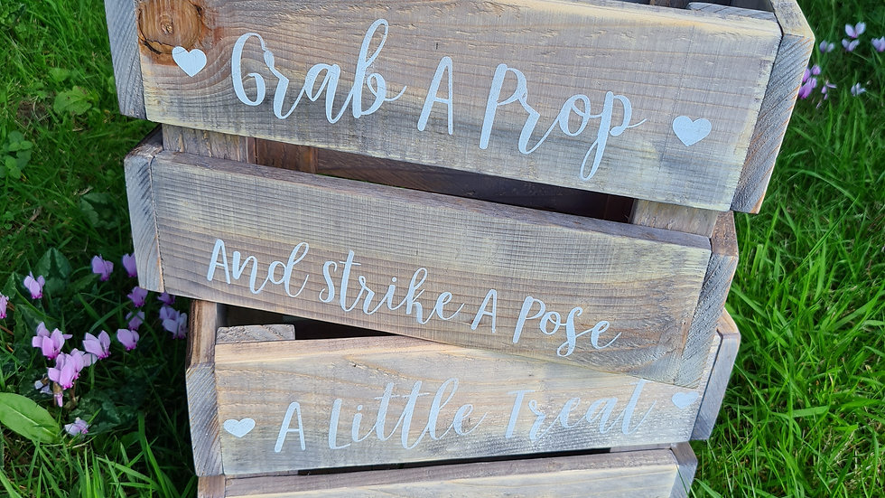 Pair of Assorted Crates Display Rustic Wedding Sweet Cart Photo Props