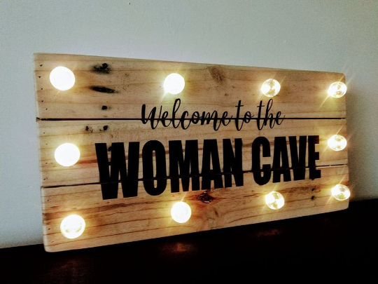 Wall Art Light Up Welcome to the Pallet Wood Gift Personalised Home Sign