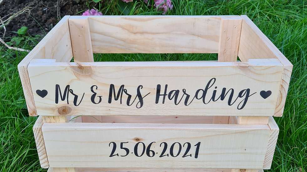 Wedding Crate Flip Flops Slippers Holder Storage Box Favor Rustic Personalised